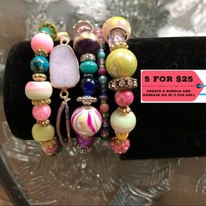 Jewelry - NWT Strand of 5 Multicolored Beaded Bracelets